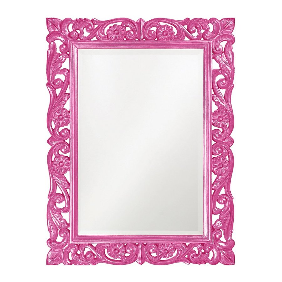 Tyler Dillon Chateau Hot Pink Beveled Wall Mirror