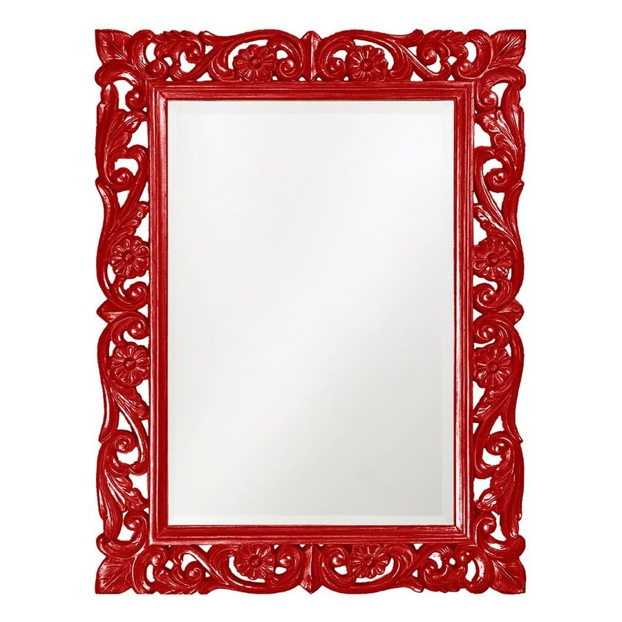 Tyler Dillon Chateau Red Beveled Wall Mirror