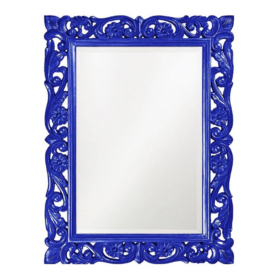 Tyler Dillon Chateau Royal Blue Beveled Wall Mirror