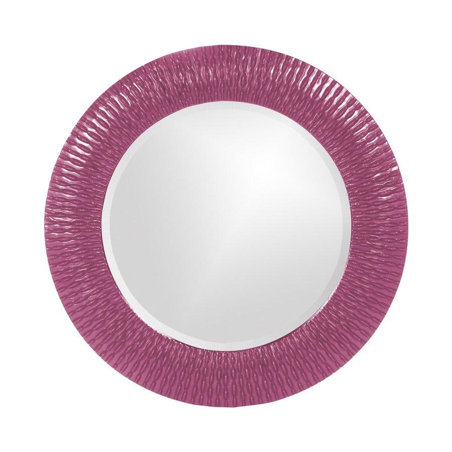 Tyler Dillon Bergman Hot Pink Framed Round Wall Mirror