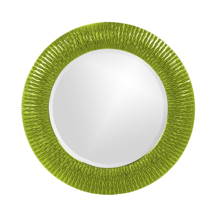 Tyler Dillon Bergman Green Framed Round Wall Mirror