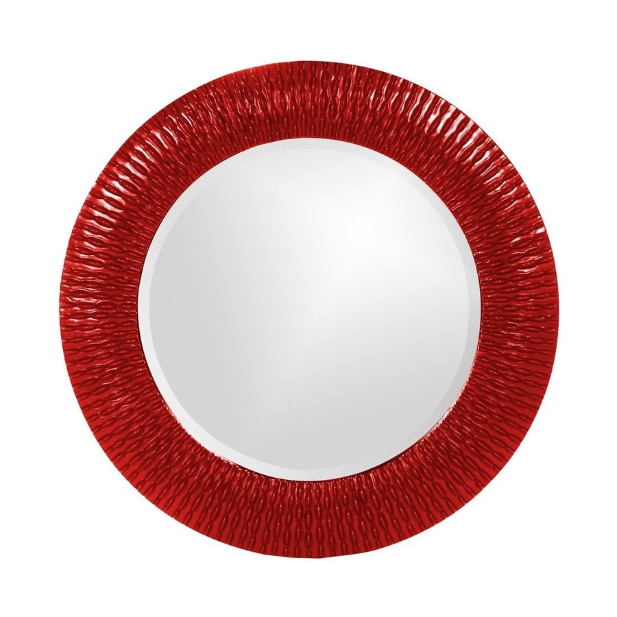 Shop Tyler Dillon Bergman Red Framed Round Wall Mirror At Lowes