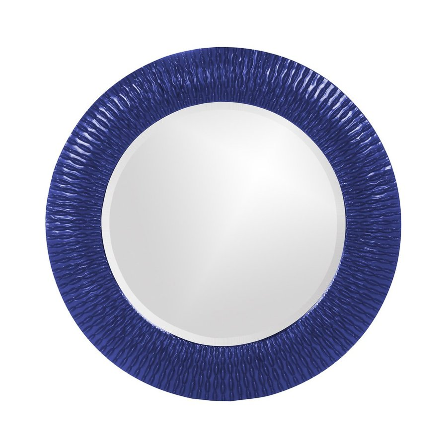 Tyler Dillon Bergman Royal Blue Framed Round Wall Mirror