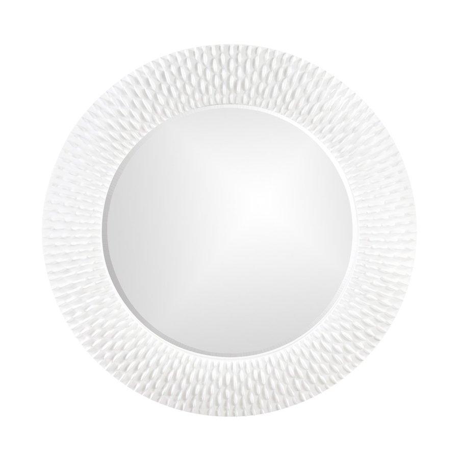 Shop tyler dillon bergman white framed round wall mirror for White round wall mirror