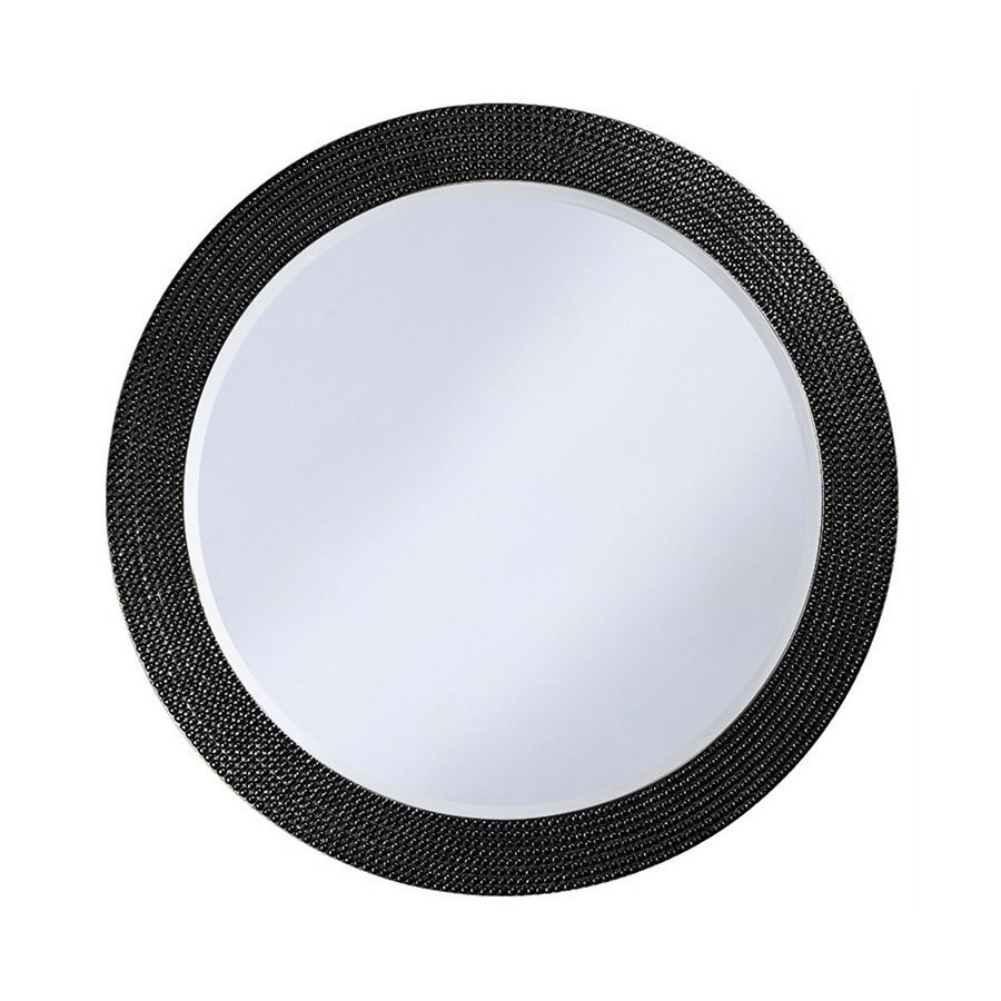 Tyler Dillon Lancelot Black Framed Round Wall Mirror