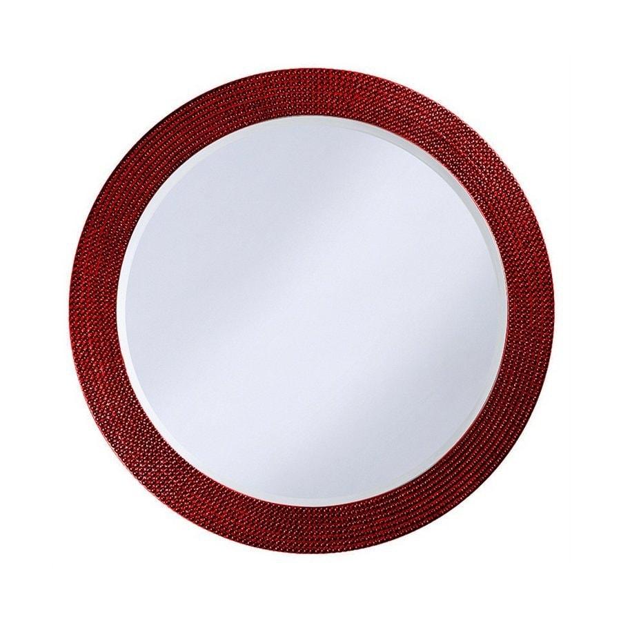 Tyler Dillon Lancelot Red Framed Round Wall Mirror