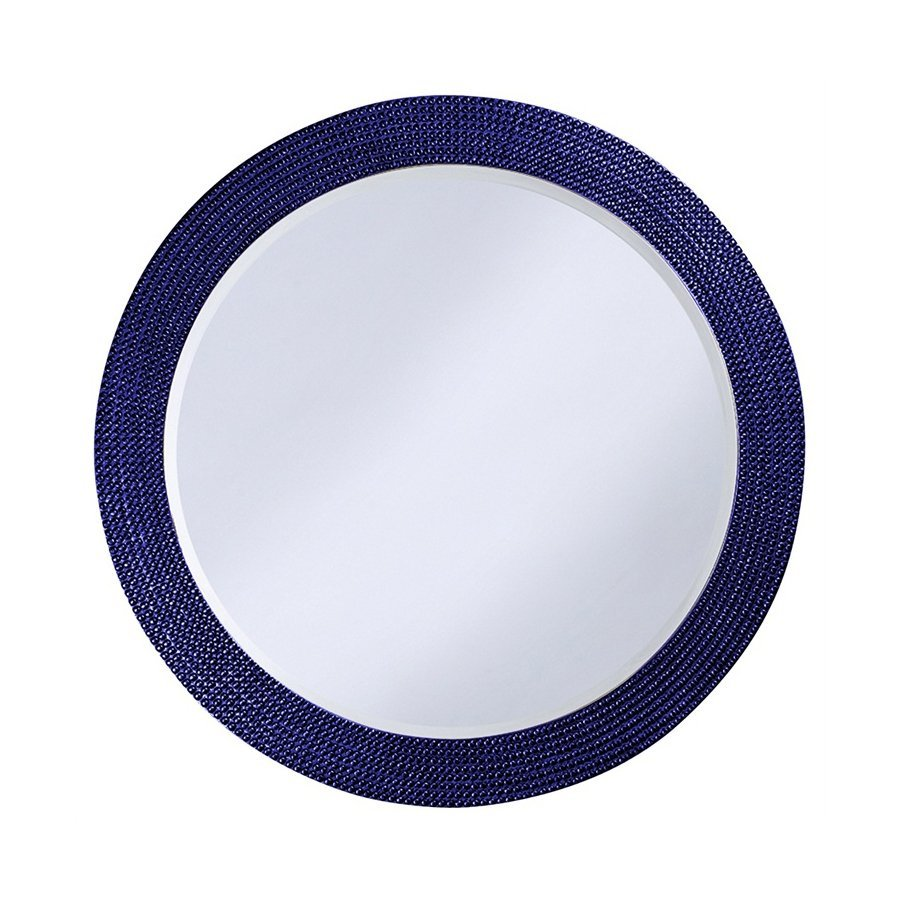 Tyler Dillon Lancelot Royal Blue Framed Round Wall Mirror