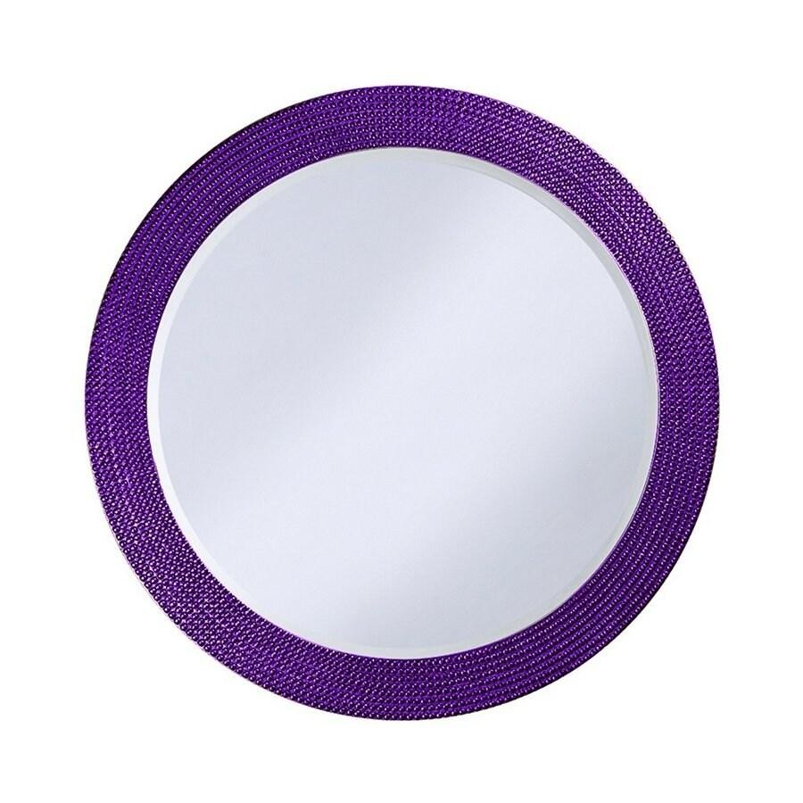 Tyler Dillon Lancelot Royal Purple Framed Round Wall Mirror