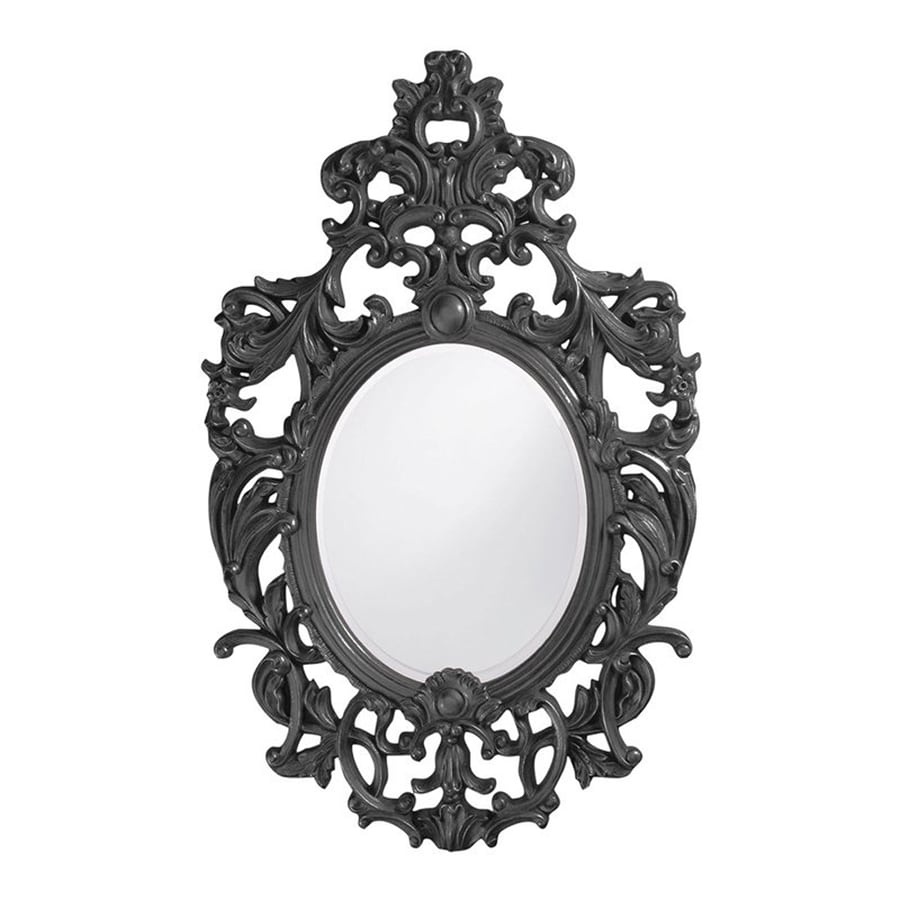 Tyler Dillon Dorsiere Charcoal Framed Oval Wall Mirror
