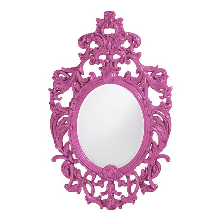 Tyler Dillon Dorsiere Hot Pink Framed Oval Wall Mirror