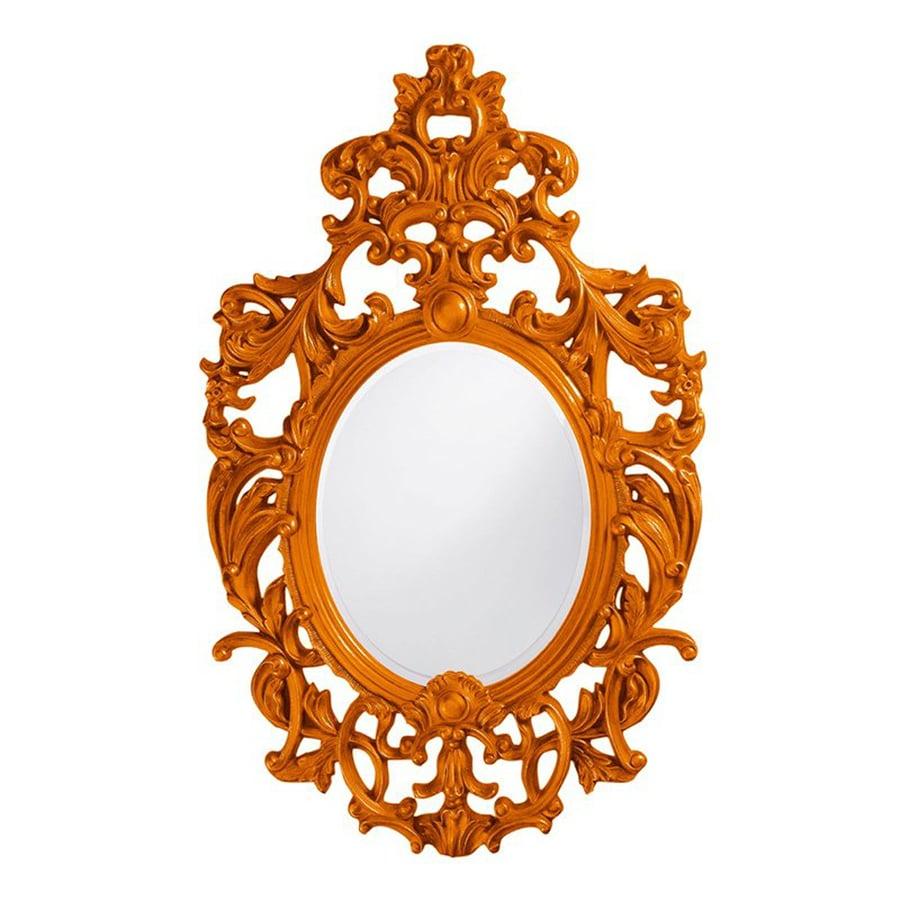 Tyler Dillon Dorsiere Orange Framed Oval Wall Mirror