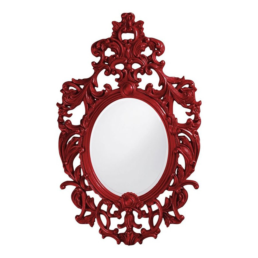 Tyler Dillon Dorsiere Red Framed Oval Wall Mirror