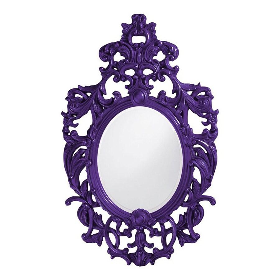 Tyler Dillon Dorsiere Royal Purple Framed Oval Wall Mirror