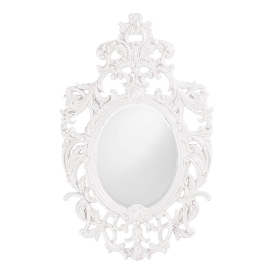 Tyler Dillon Dorsiere White Framed Oval Wall Mirror