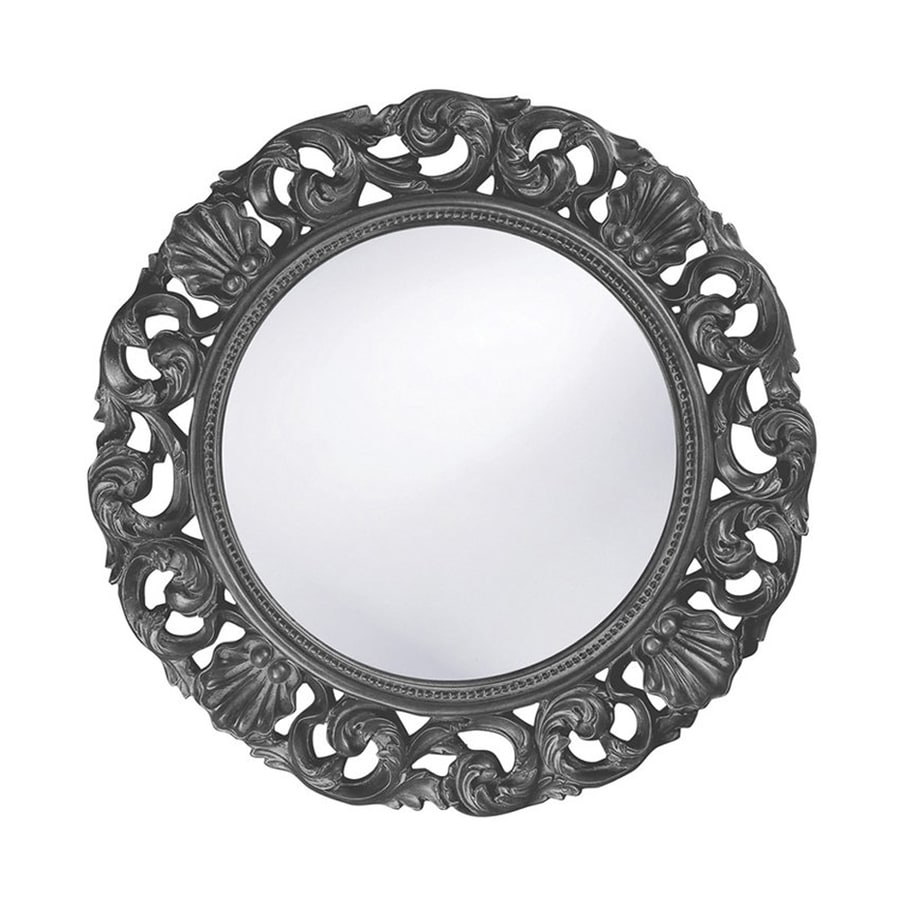 Tyler Dillon Glendale Charcoal Framed Round Wall Mirror