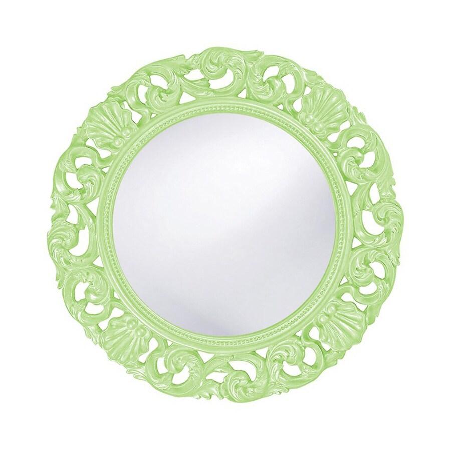 Tyler Dillon Glendale Green Framed Round Wall Mirror