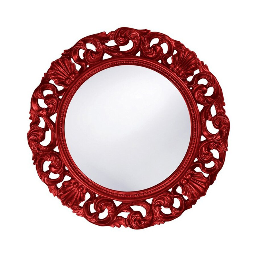 Tyler Dillon Glendale Red Framed Round Wall Mirror