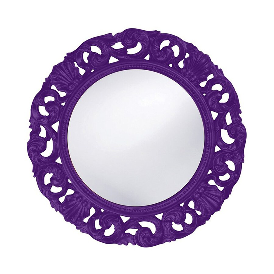 Tyler Dillon Glendale Royal Purple Framed Round Wall Mirror
