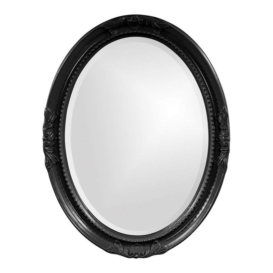 Tyler Dillon Queen Ann Black Beveled Oval Wall Mirror