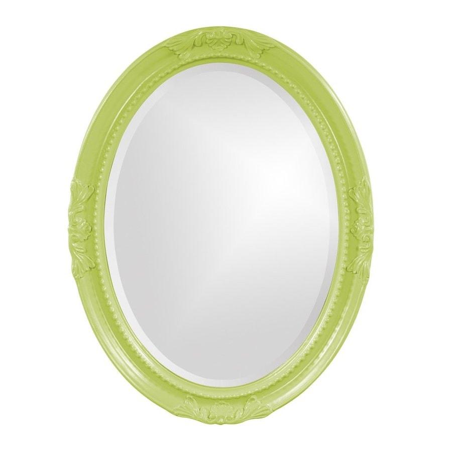 Tyler Dillon Queen Ann Green Beveled Oval Wall Mirror