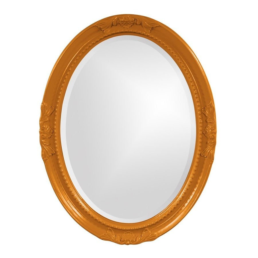 Tyler Dillon Queen Ann Orange Beveled Oval Wall Mirror