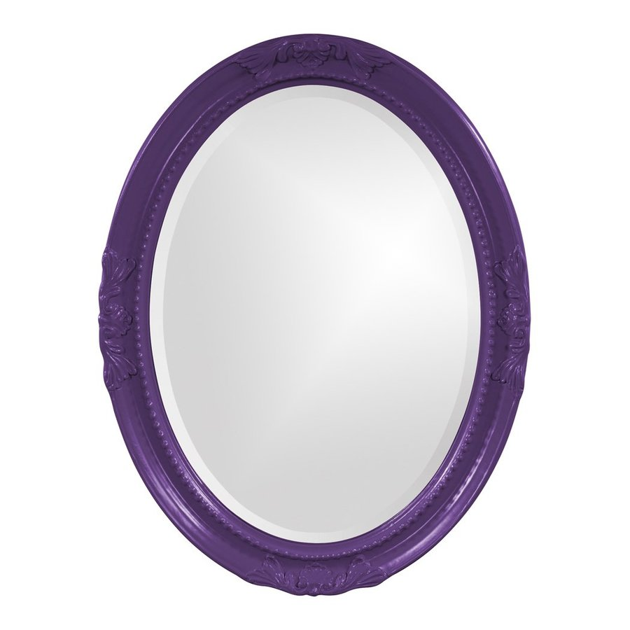 Tyler Dillon Queen Ann Royal Purple Beveled Oval Wall Mirror