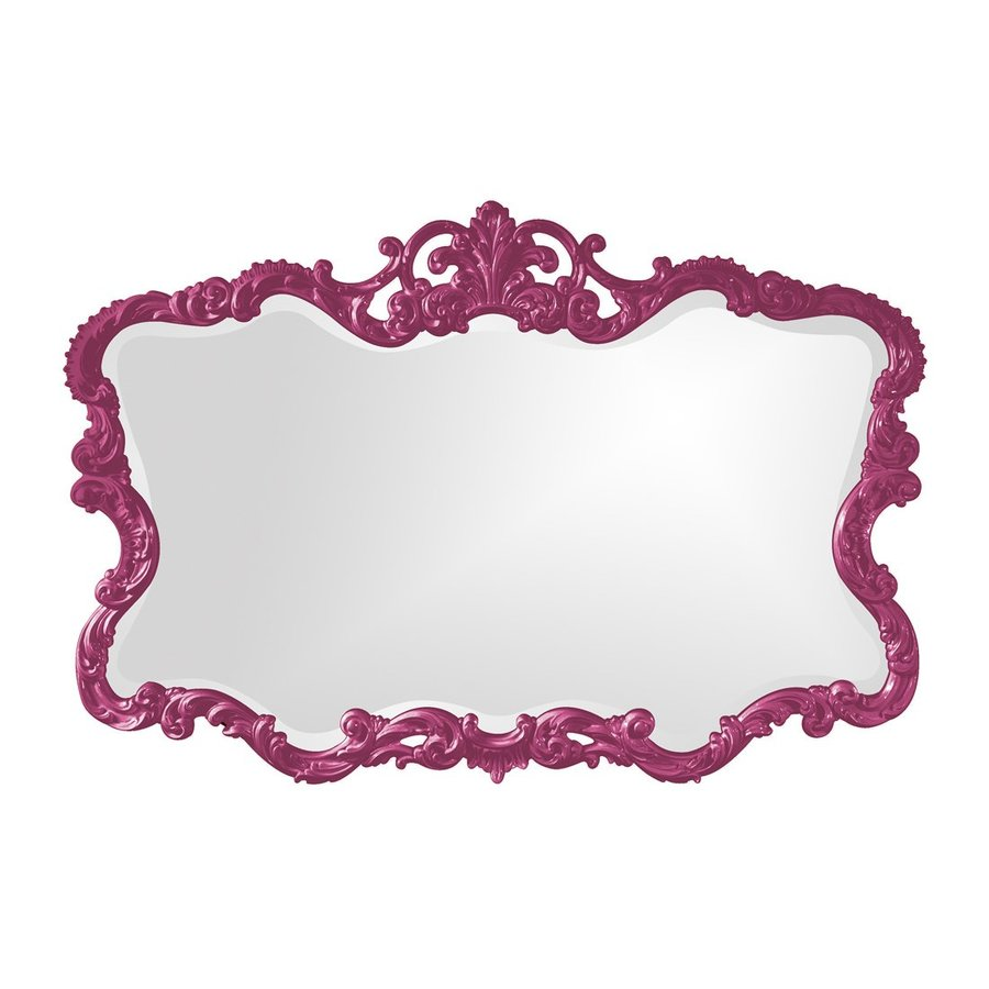 Tyler Dillon Talida Hot Pink Beveled Wall Mirror