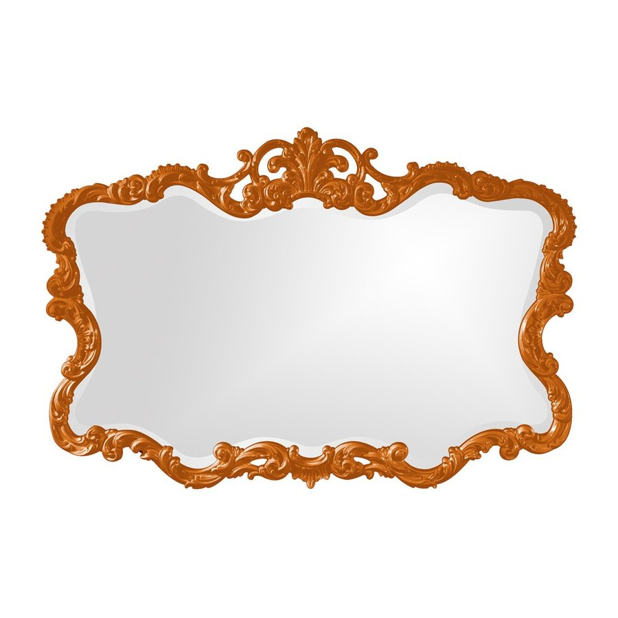 Tyler Dillon Talida Orange Beveled Wall Mirror