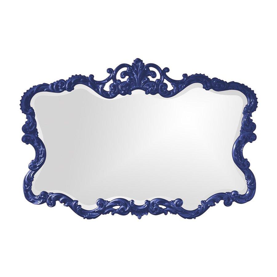 Tyler Dillon Talida Royal Blue Beveled Wall Mirror