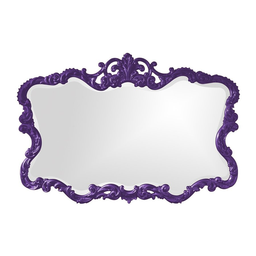 Tyler Dillon Talida Royal Purple Beveled Wall Mirror