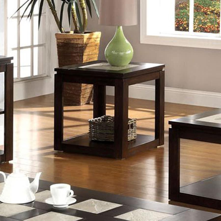 Furniture of America Verona Espresso End Table
