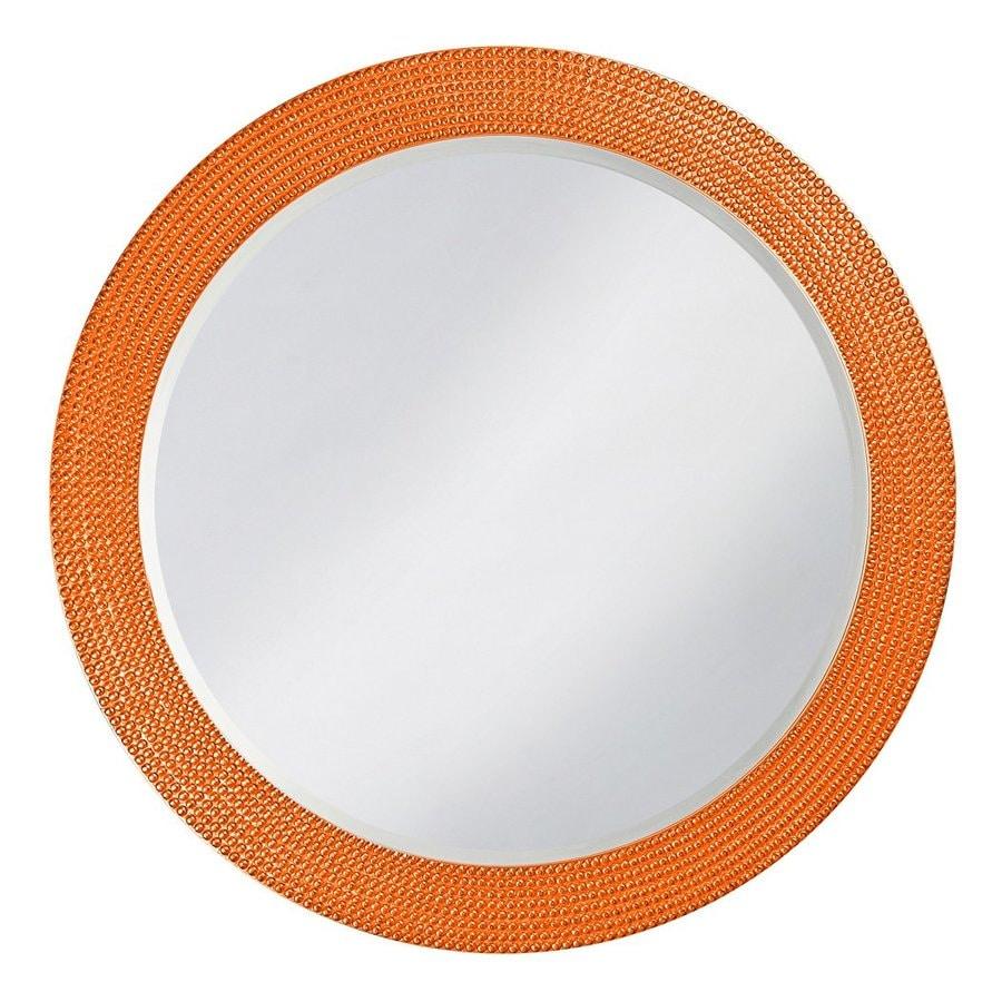 Tyler Dillon Lancelot Orange Framed Round Wall Mirror