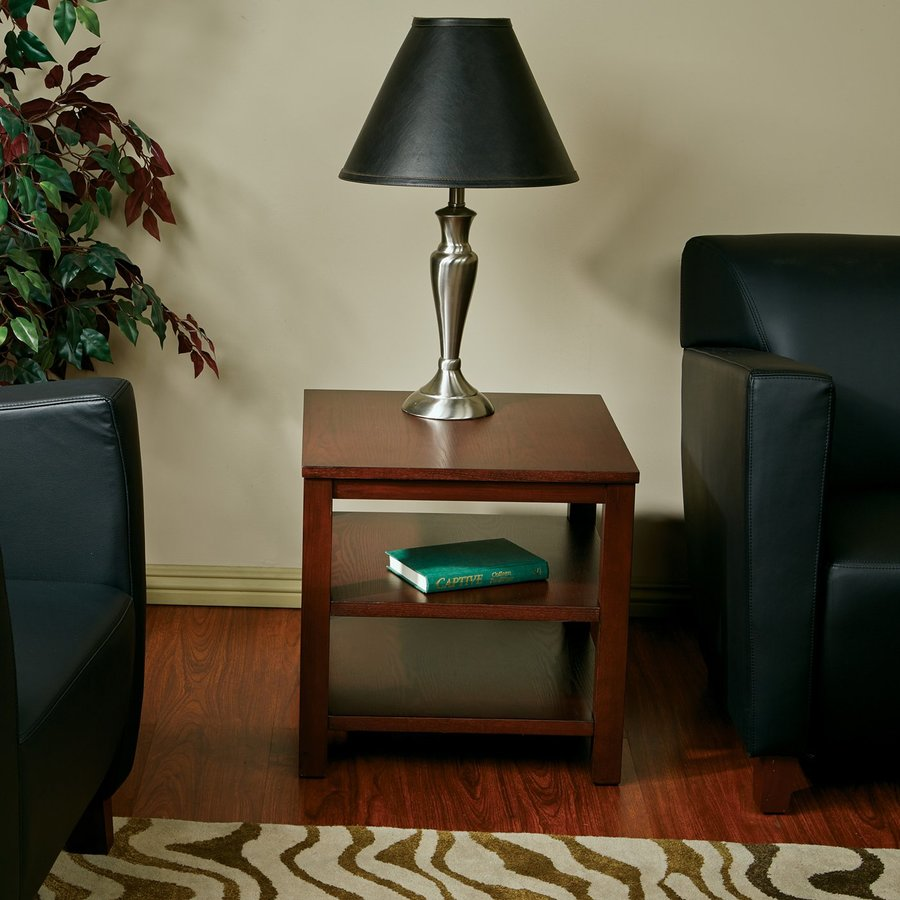 Office Star Ave Six Merge Mahogany Ash End Table