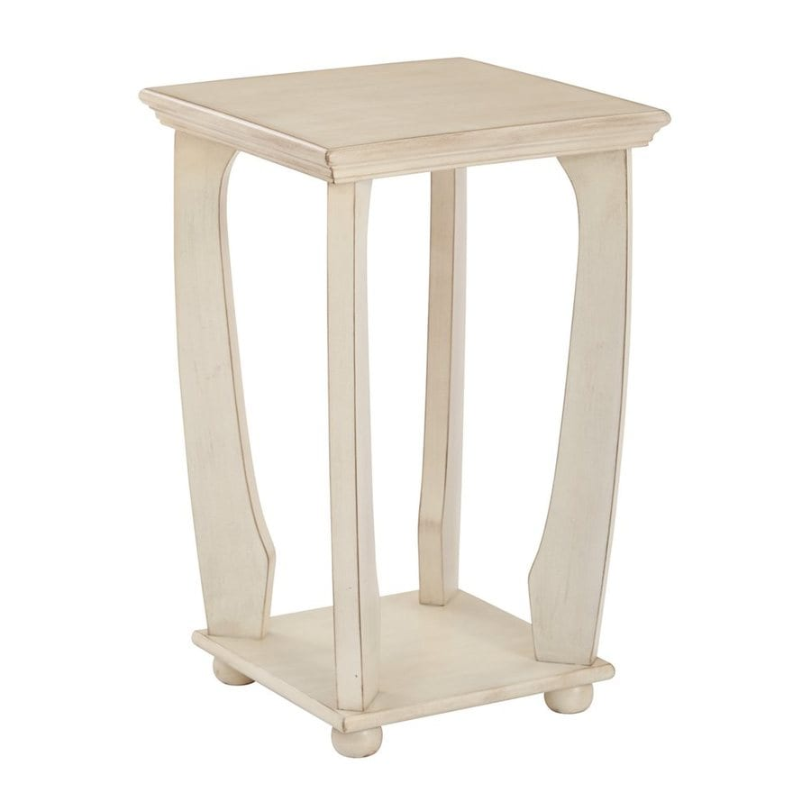 Office Star Osp Designs Antique White End Table