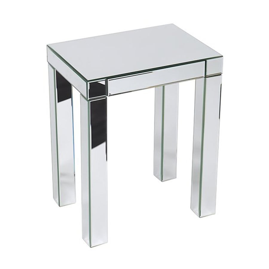 Office Star Ave Six Reflections Silver Mirror End Table