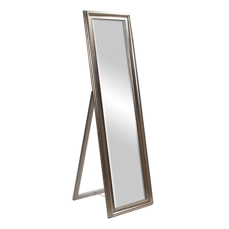 Tyler Dillon Taylor Bright Silver Leaf Beveled Floor Mirror