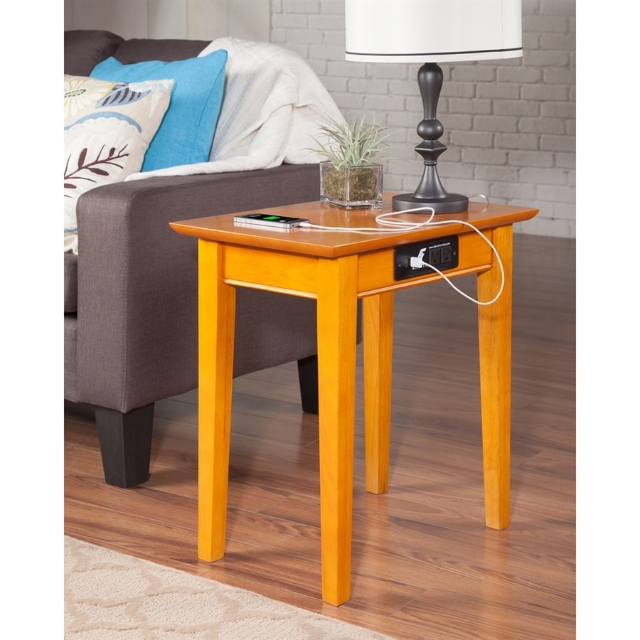 Atlantic Furniture Shaker Caramel Latte End Table