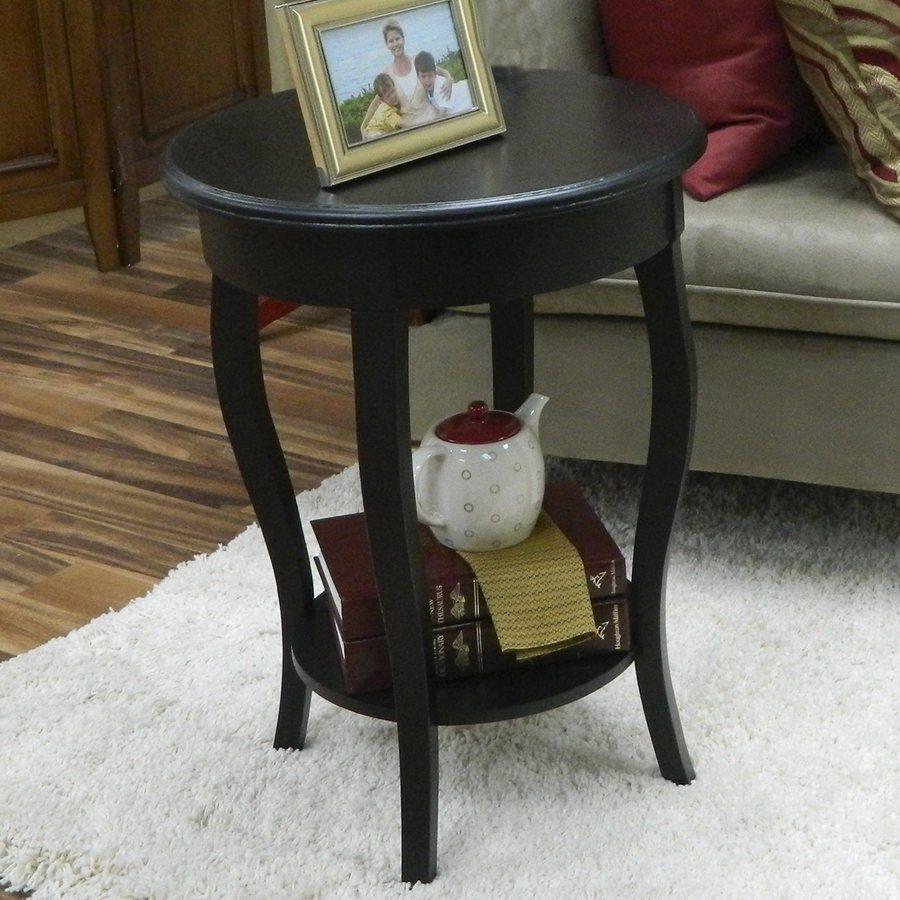 CAROLINA COTTAGE Radnor Antique Black End Table
