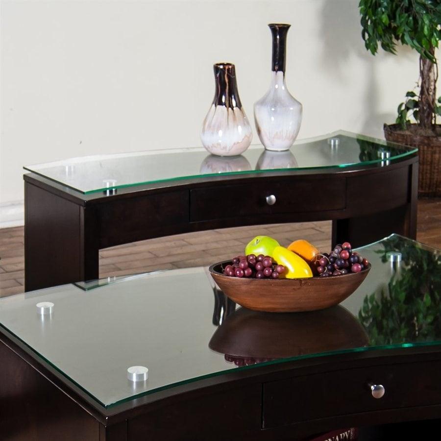 Sunny Designs Espresso Birch Console Table