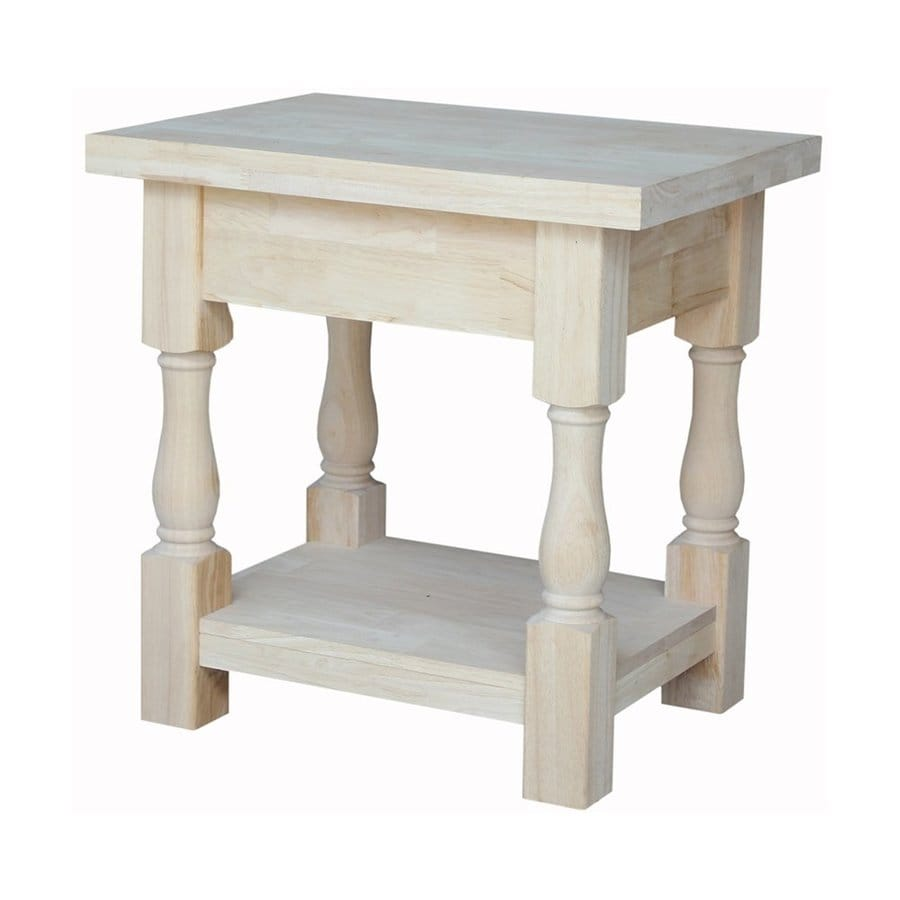 International Concepts Tuscan Natural Rubberwood End Table