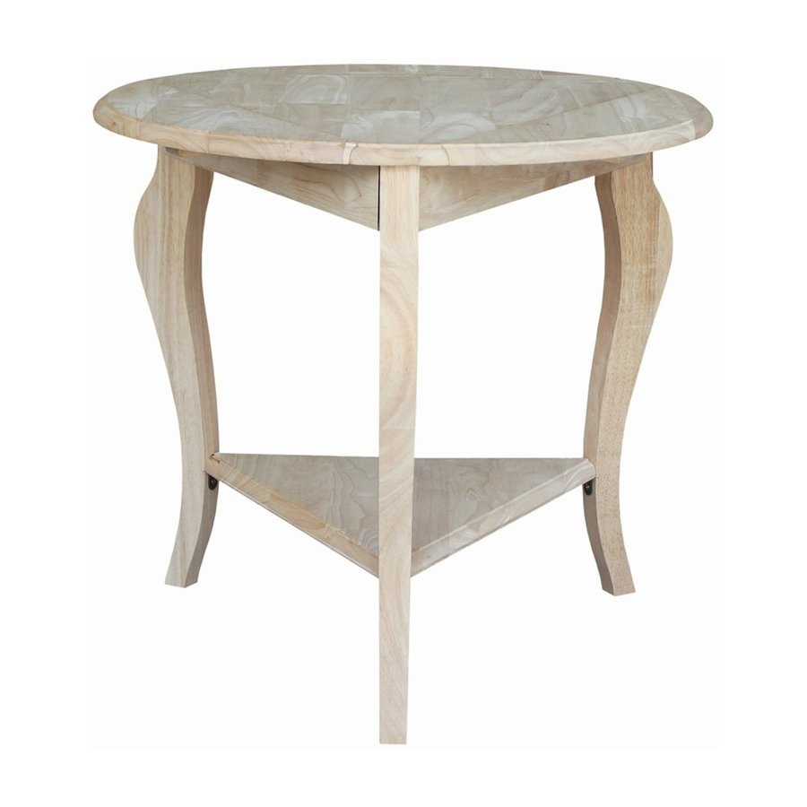 International Concepts Cambria Natural Rubberwood End Table