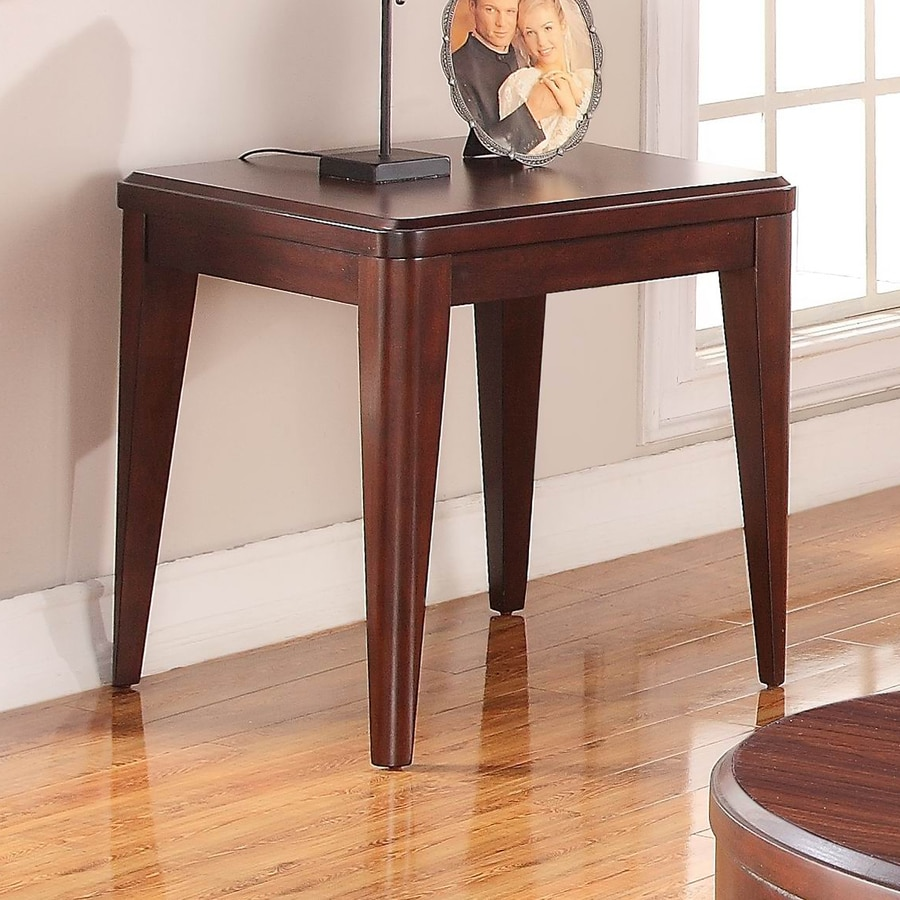 Homelegance Beaumont Medium Brown Cherry Rubberwood End Table