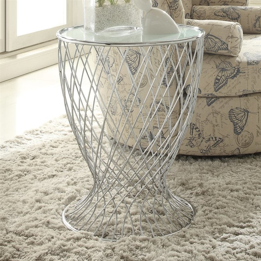 Homelegance Zara Chrome End Table