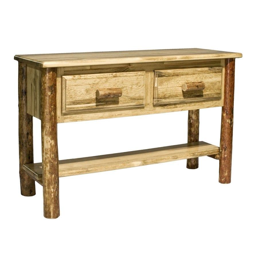 Shop montana woodworks glacier country pine console table at lowes montana woodworks glacier country pine console table geotapseo Gallery