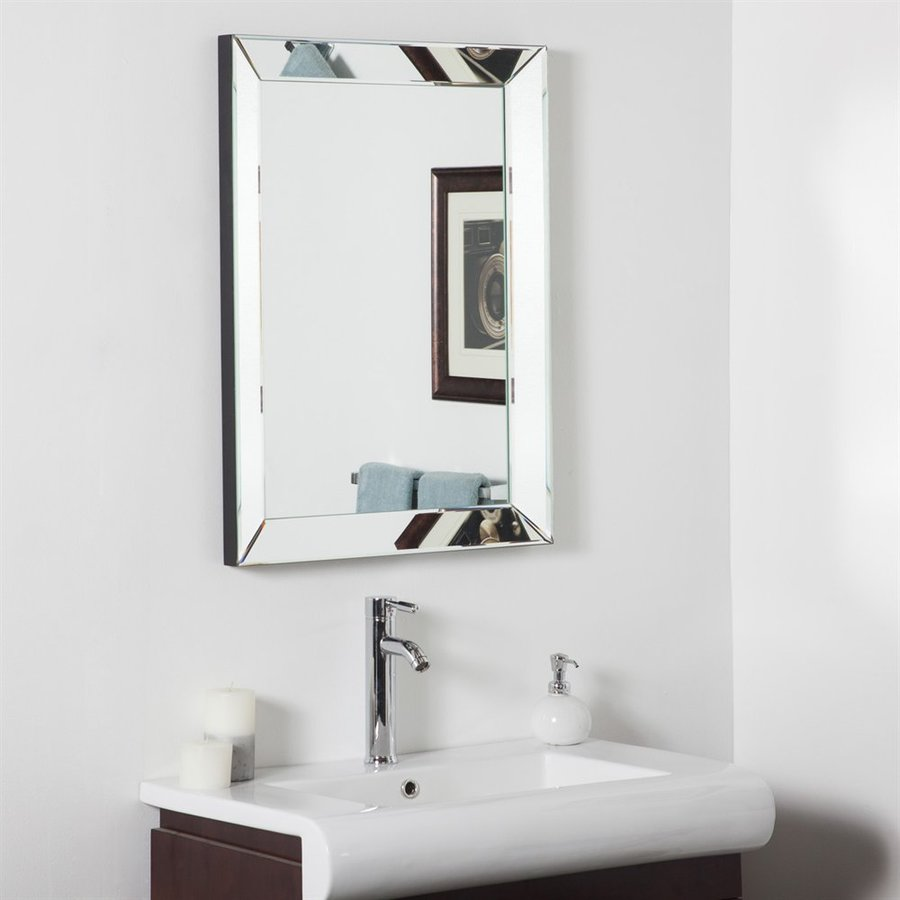 decor 23 6 in rectangular bathroom mirror at 16358