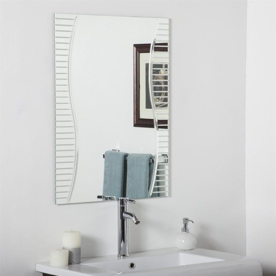 Decor Wonderland Ava 23.6-in x 31.5-in Rectangular Frameless Bathroom Mirror