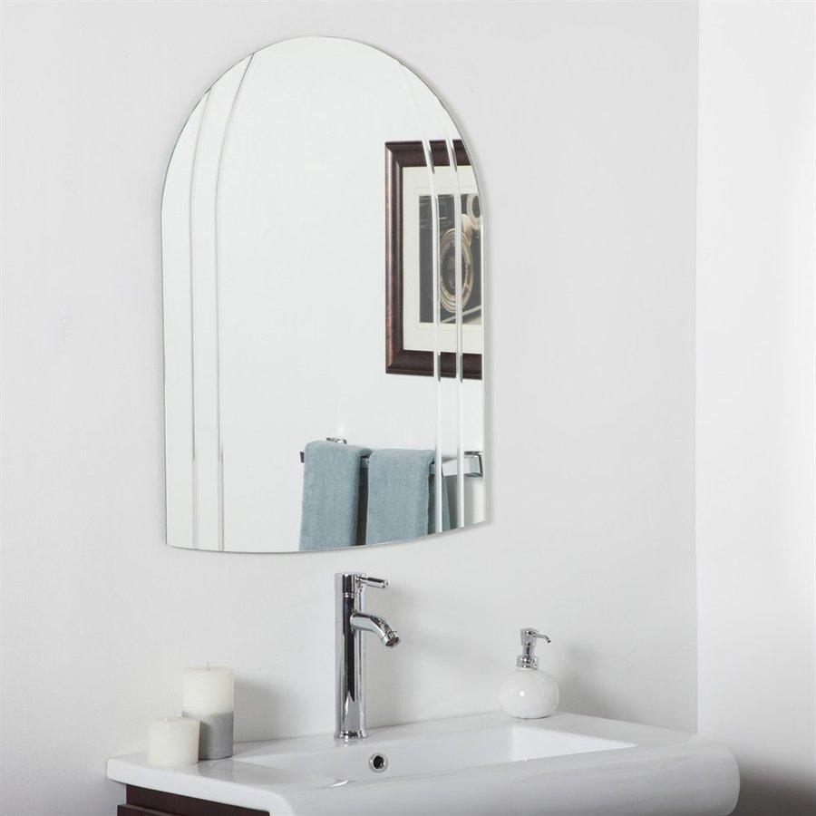 Decor Wonderland Serina 23.6-in x 31.5-in Arch Frameless Bathroom Mirror