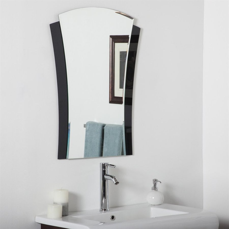 bathroom accessories mirrors shop decor deco 23 6 in x 31 5 in black arch 10195