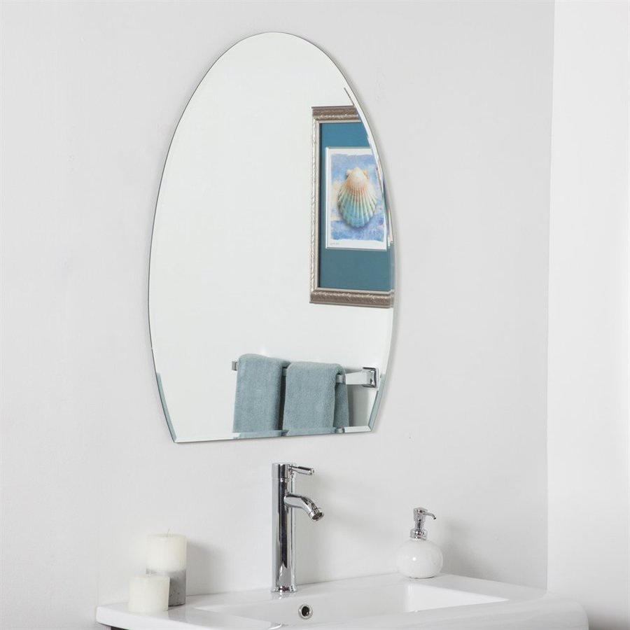 Decor Wonderland Sena 23.6-in x 31.5-in Arch Frameless Bathroom Mirror