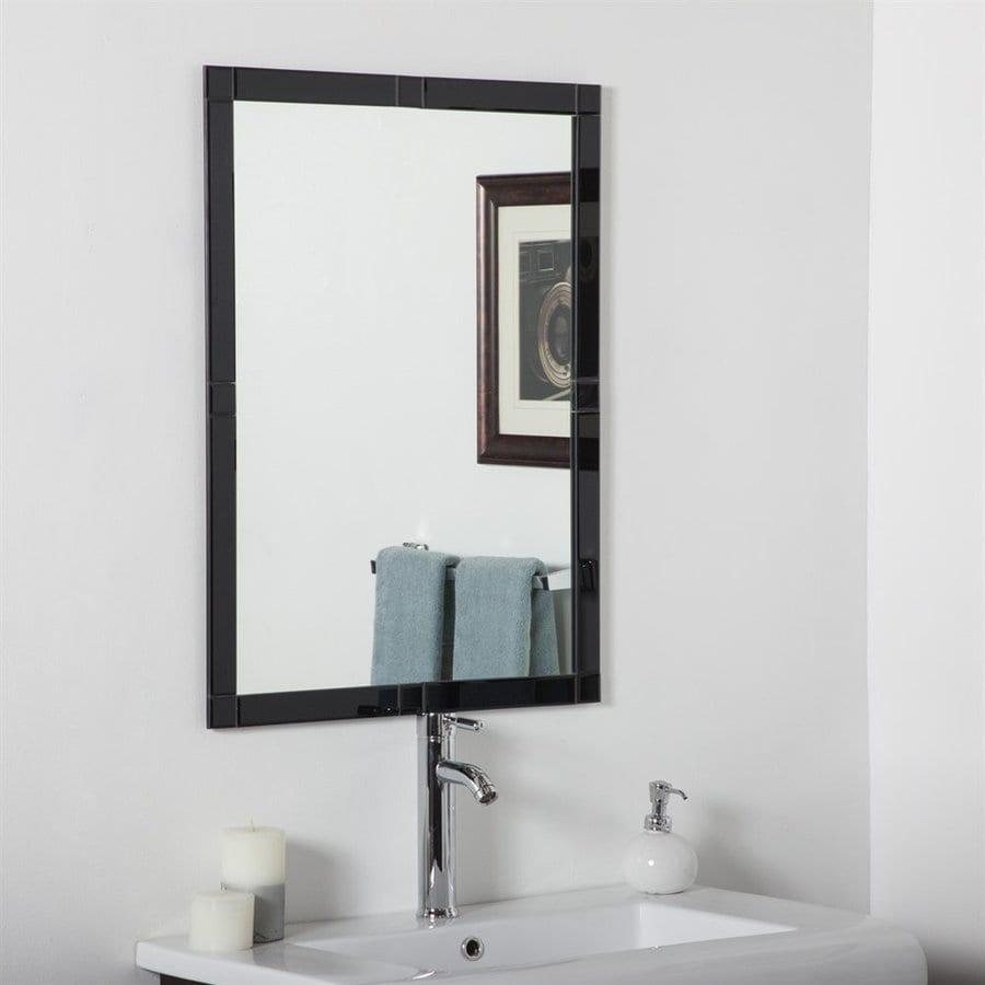 Shop Decor Wonderland Kinana 23 6 In X 31 5 In Black Rectangular Framed Bathroom Mirror At